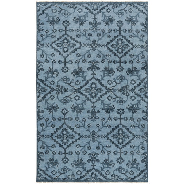 Hand-Knotted Tadley Floral Indoor Wool Area Rug (2' x 3')