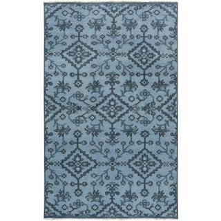 Hand-Knotted Tadley Floral Indoor Wool Rug (2' x 3')