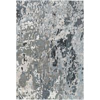 Hand-Knotted Hingham Abstract Viscose Area Rug - 9' x 13'