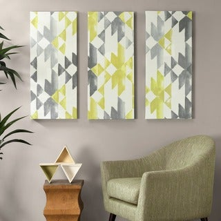 Ink+Ivy Yellow Sierra Gel Coat Printed Canvas 3-Piece Set