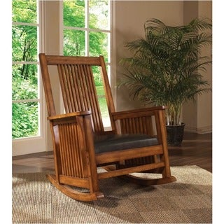 Madison Park Raiston Chocolate Belmont Spindle Rocking Chair