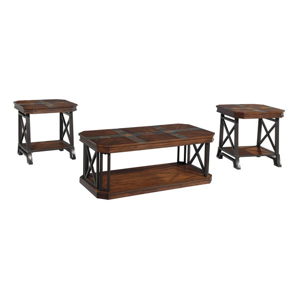 Signature Design by Ashley Vinasville Brown Tables (Set of 3)