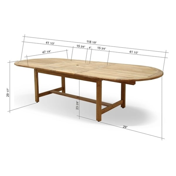 Tottenville 9-piece Teak Double Extendable Dining Set by Havenside Home