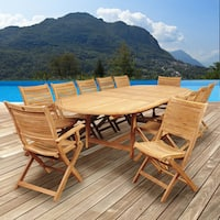 Amazonia Teak Sessa 13 piece Extendable Patio Dining Set