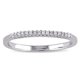 Miadora Sterling Silver Diamond Accent Wedding Band (4 options available)