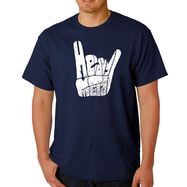 Men's Los Angeles Pop Art Heavy Metal Fingers T-Shirt