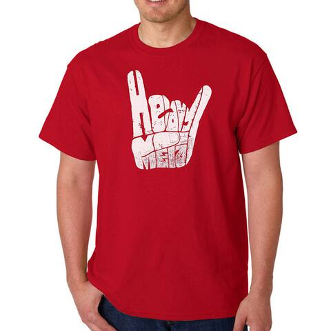 Men's Los Angeles Pop Art Heavy Metal Fingers T-Shirt