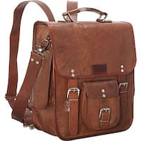Sharo Dark Brown 3 in 1 Backpack/Messenger/16-inch Laptop Brief Bag