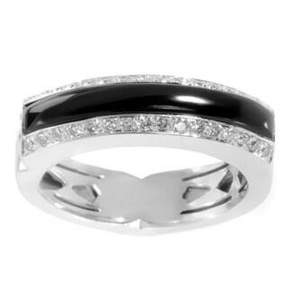 Stephen Webster 18K White Gold Onyx & Diamond Ring