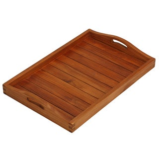 Link to Bare Decor Vivi Spa/Serving Tray in Solid Teak Wood Similar Items in Serveware