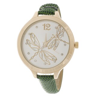 Fortune NYC Women's Goldtone Case Butterfly Dial Watch