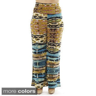 Golden Black Women's Plus Size High-waist Foldover Palazzo Pants