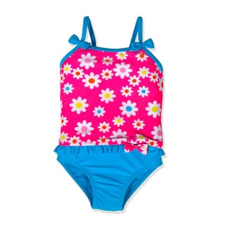 Jump'N Splash Small Girls Pink Floral Tankini Swimsuit