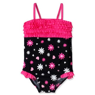 Jump'N Splash Small Girls Flower Burst Bandeau One Piece Swimsuit
