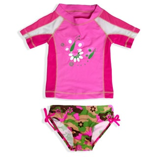 Jump'N Splash Girl's Camo Butterfly Rash Guard Set