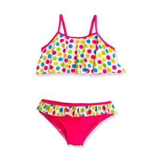 Jump'N Splash Girl's Multicolor Polka Dot Bikini Swimsuit