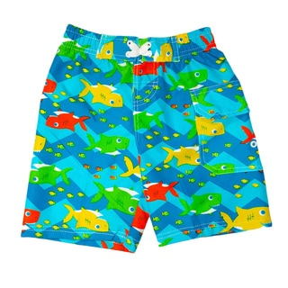 Jump'N Splash Boy's Mini Shark Swim Trunks