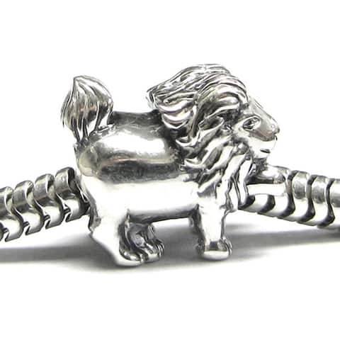 Queenberry Sterling Silver Leo Zodiac European Bead Charm
