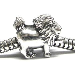 Queenberry Sterling Silver Leo Zodiac European Bead Charm