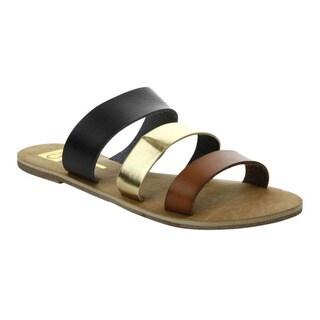 Cape Robbin 'ALMA-FB-06-CR' Women's Triple-Strap Flat Sandals