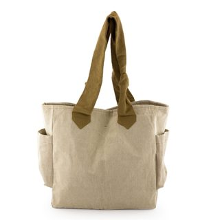 Handcrafted Cotton 'Cocoa Bean' Tote Handbag (Guatemala)
