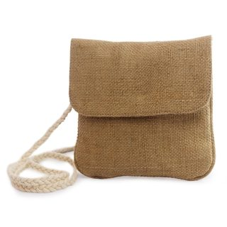Handcrafted Jute 'Nature's Details' Shoulder Bag (El Salvador)