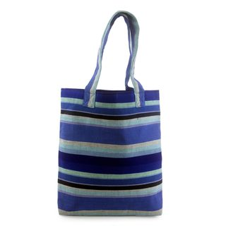 Handcrafted Cotton 'Colors of My Skies' Tote Bag (Guatemala)