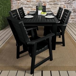 Highwood Eco Friendly Synthetic Wood Weatherly 7 Piece Rectangular Dining  Set