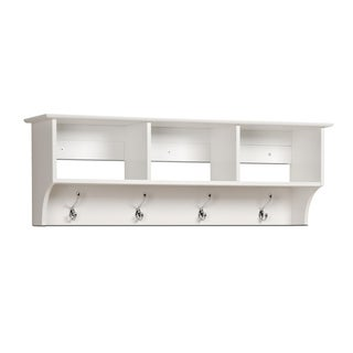 Prepac Winslow White Hanging Entryway Shelf