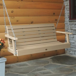 Highwood Weatherly 4-foot Eco-friendly Marine-grade Synthetic Wood Porch Swing