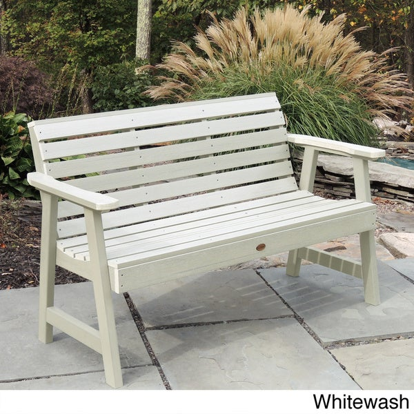 whitewash outdoor furniture. highwood weatherly 5foot ecofriendly marinegrade synthetic wood garden bench free shipping today overstockcom 17220960 whitewash outdoor furniture