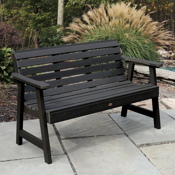 Highwood Weatherly 5 Foot Eco Friendly Marine Grade Synthetic Wood Garden  Bench