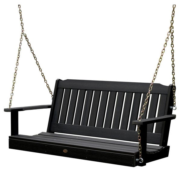 highwood leigh 5foot ecofriendly marinegrade synthetic wood porch swing - Wooden Porch Swings