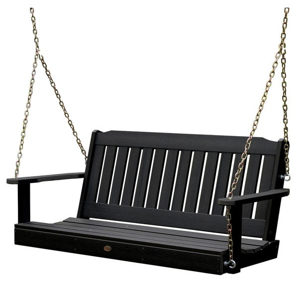 Highwood Leigh 5-foot Eco-friendly Marine-grade Synthetic Wood Porch Swing