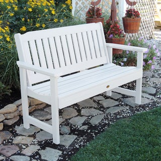 Highwood Eco-friendly Marine-grade Synthetic Wood Lehigh 4 ft. Garden Bench