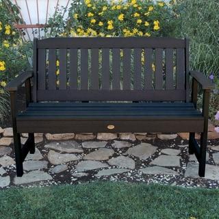 Highwood Eco-friendly Marine-grade Synthetic Wood Lehigh 4 ft. Garden Bench