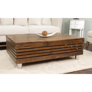 Decorative Kerby Modern Tan Rectangle Coffee Table