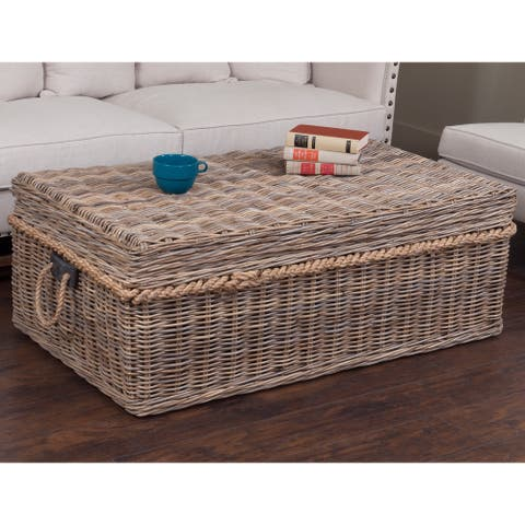 East At Main's Decorative Norway Casual Tan Rectangle Coffee Table