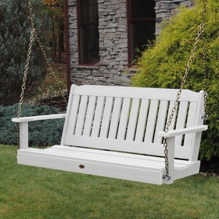 Highwood Eco-friendly Marine-grade Synthetic Wood Lehigh 4 Ft. Porch Swing