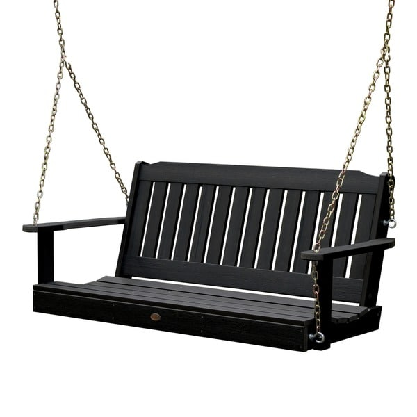 white porch swing chain foot friendly marine grade synthetic wood home depot stand