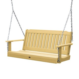 Highwood Lehigh 4-foot Eco-friendly Synthetic Wood Porch Swing (Option: sandstone)