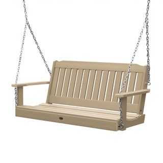 Highwood Lehigh 4-foot Eco-friendly Synthetic Wood Porch Swing