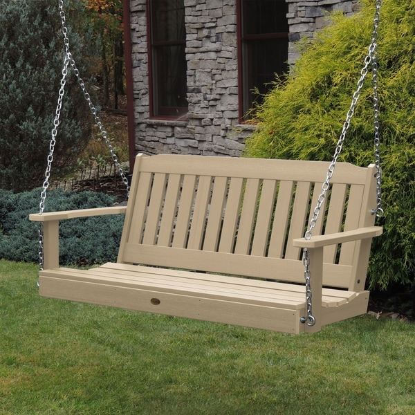Highwood Lehigh 4 Foot Eco Friendly Synthetic Wood Porch Swing