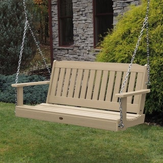 Highwood Lehigh Marine-grade Synthetic Wood Eco-friendly Porch Swing