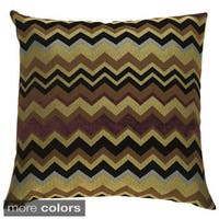 Chevron Feather and Down Filled Decorative Throw Pillow