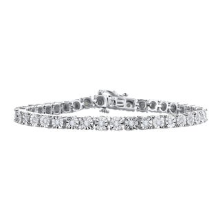 Sterling Silver 1ct TDW Diamond Tennis Bracelet (G-H, I2,I3)