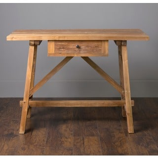 Decorative Banks Rustic Tan Rectangle Console Table