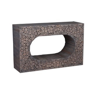 Decorative Lostine Modern Brown Rectangle Console Table