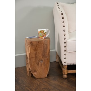 Decorative Round Rustic Tan Specialty Accent Table