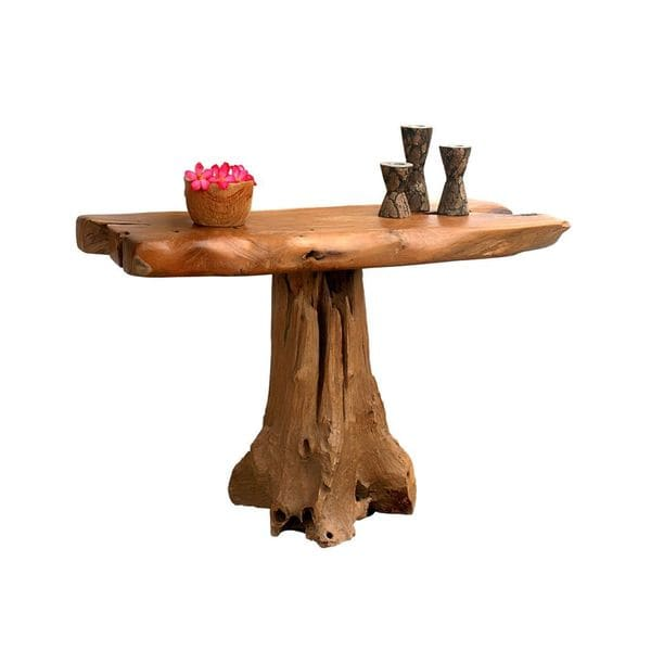 East At Main's Decorative Jasper Rustic Tan Specialty Console Table